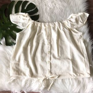 Madewell texture&thread off the shoulder top NWT